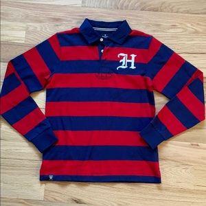 HACKETT London striped rugby shirt size 11/12 yrs